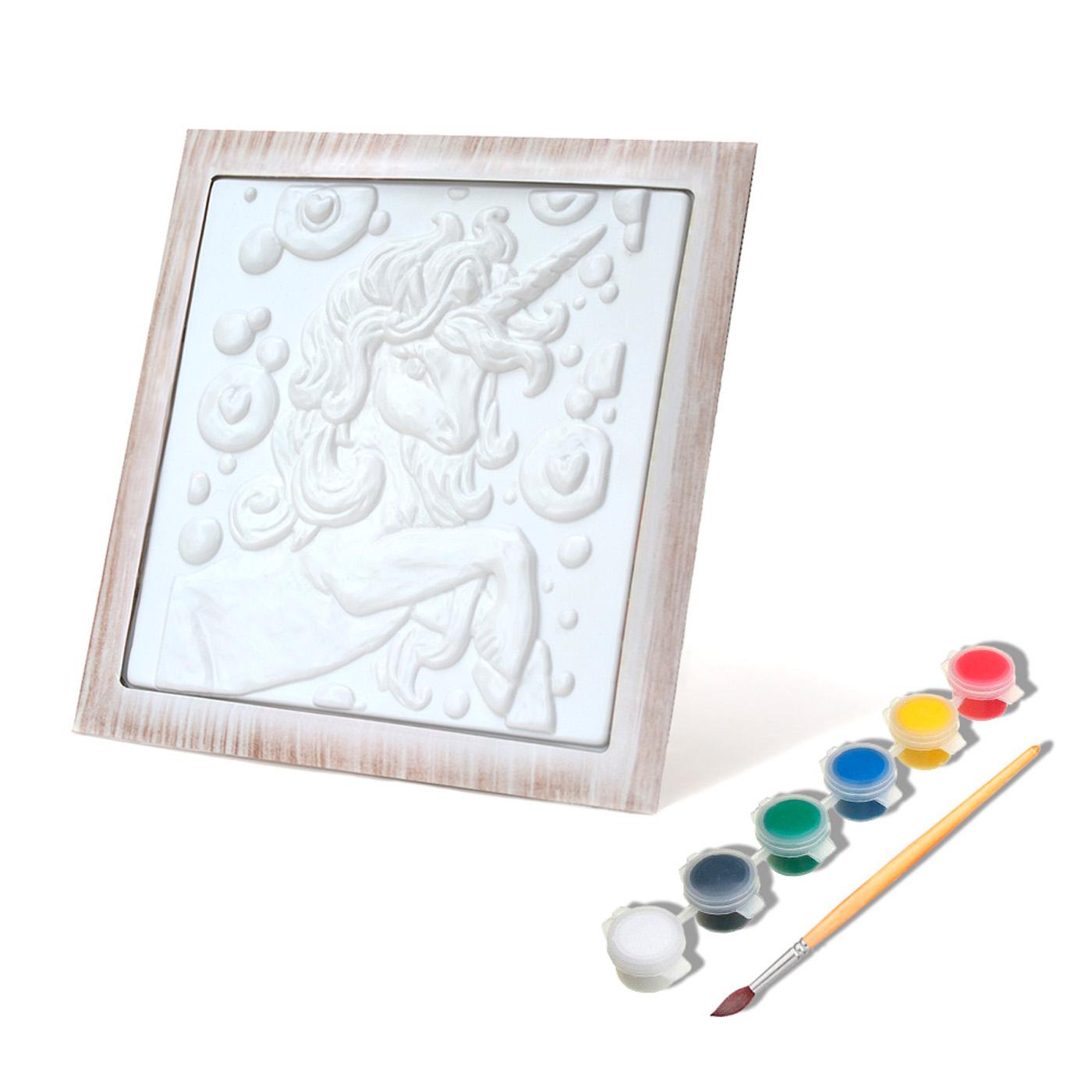 Рельефная раскраска Единорог